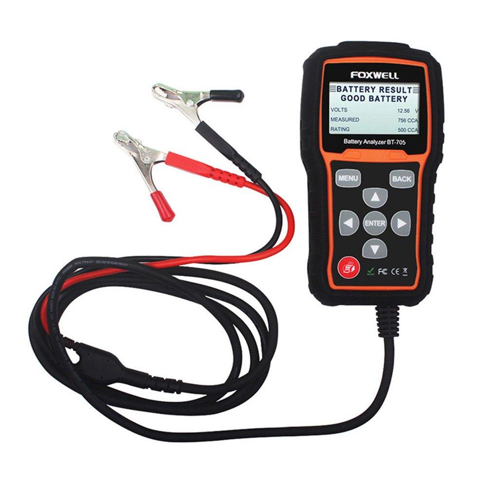 Foxwell BT705 BT-705 Automotive Car Battery Analyzer 12V 24V Check Battery Health Tester 2000CCA With Bluetooth Printer