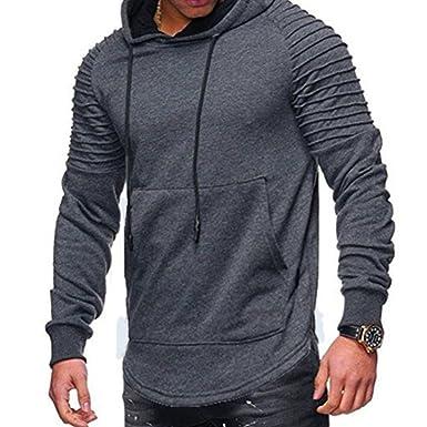 schön Design großer Rabatt schnell verkaufend Herren Pullover Sweatshirt Große Tasche Outwear Gestreiftes ...