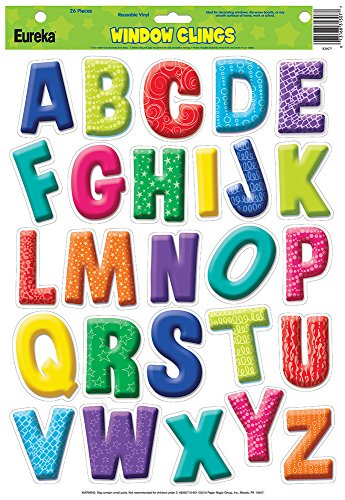 Eureka Color My World Alphabet Window Clings (836071)