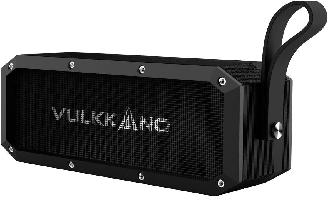 VULKKANO Blast el Altavoz Bluetooth más potente con 30W,Resiste agua y arena, perfecto en playa, piscina, ducha, Altavoz inalámbrico portátil estéreo compatible con móvil, ordenador, TV, etc...