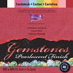 "Core'dinations Gemstones Cardstock Pack 6""X6"" 40/Pkg-"