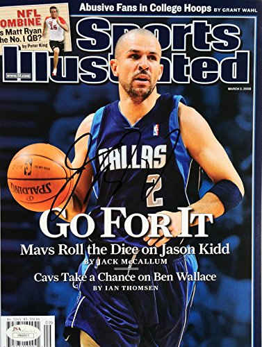 Jason Kidd Signed (March 8 2003) Sports Illustrated SI Magazine - JSA Certified - Autographed NBA Magazines