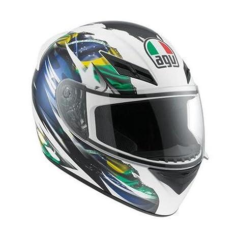 Amazon.com: AGV K3 Rossi Bandera de Brasil Casco de ...