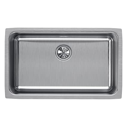Elkay Lustertone ELUH281610 Single Bowl Undermount Stainless Steel ...