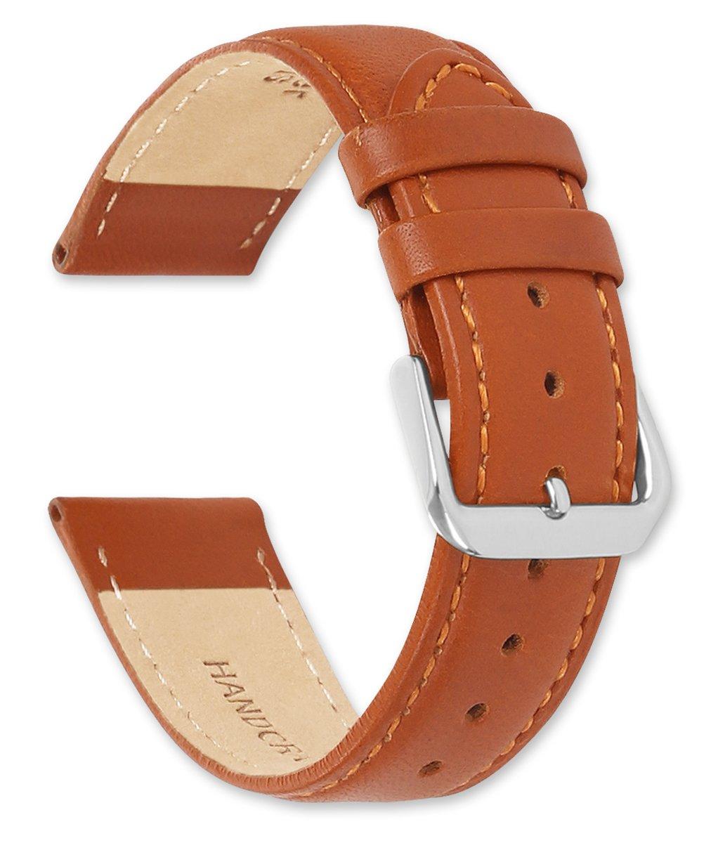 deBeer Stage Coach Leather Watch Strap - 17mm - Havana