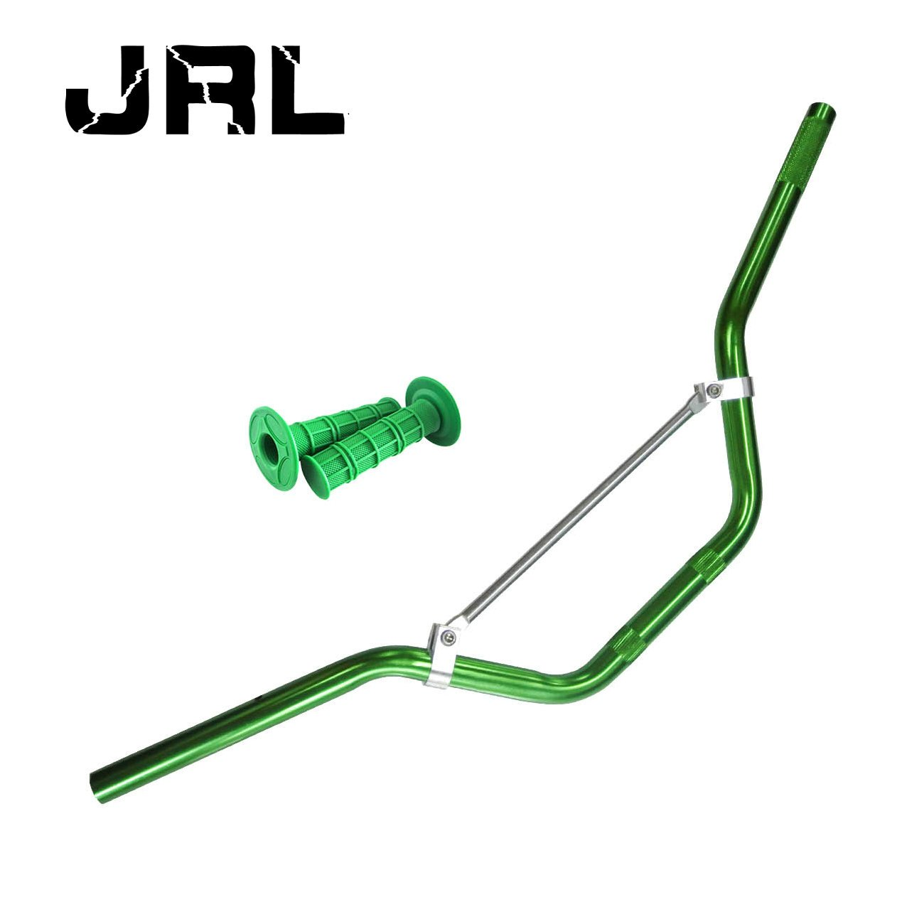 JRL 7/8'' Handlebars Handle Bars Hand Grips Fit ATV Pit Dirt Bike Motorcycle Green