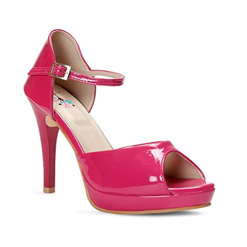 ebfd3e4e805b meriggiare Women Synthetic Pink Heels  Buy Online at Low Prices in ...