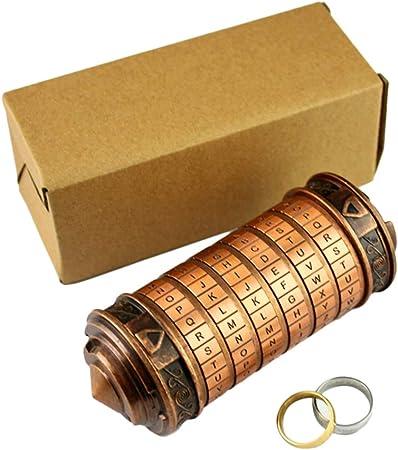 Código Da Vinci Cryptex Lock Cilindro Caja de cerradura Mini Cryptex Retro Alphabet Lock Día de San Valentín Novia Novio Cerraduras de seguridad Cumpleaños Interesante Creativo Regalo romántico: Amazon.es: Hogar