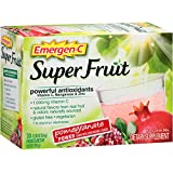 Emergen-C Super Fruit (30 Count, Pomegranate Power Flavor) Dietary Supplementwith 1000 mg Vitamin C, 0.30 Ounce Packets, Gluten Free