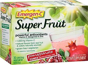 amazon com emergen c super fruit 30 count pomegranate power