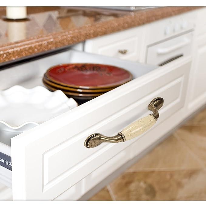 Ymeibe Zinc Alloy Flat Black Drawer Cabinet Pulls Kitchen ...