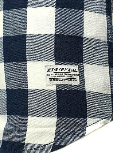 SHINE Original -  Camicia classiche  - Camicia  - A quadri - Con bottoni  - Uomo blu Small