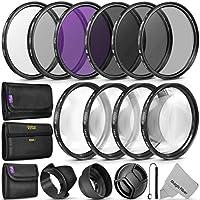 Juego completo de accesorios para el filtro de la lente de 52MM (UV, CPL, FLD, ND2, ND4, ND8 y macro) para Nikon D3300 D3200 D3000 D5000 D500 D500 D5100 D500 D500 D700 D7000