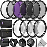 52mm lens filter - 52MM Complete Lens Filter Accessory Kit (UV, CPL, FLD, ND2, ND4, ND8 and Macro Lens Set) for NIKON D3300 D3200 D3100 D3000 D5300 D5200 D5100 D5000 D7100 D7000 DSLR Camera