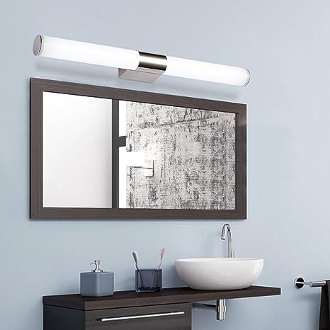 Glighone Luz Baño Led Lámpara para Espejos 40cm 8W Luz Moderna para ...