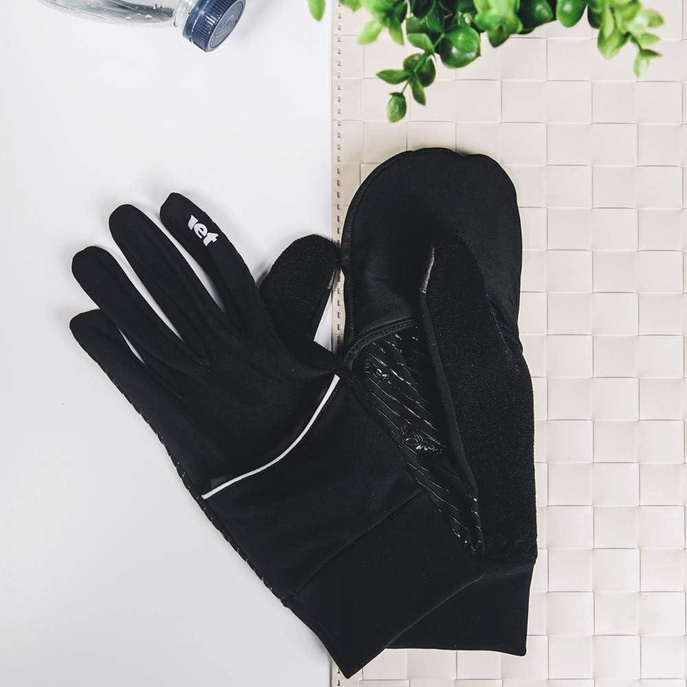 Jet Hybrid Running Outdoor Commuting Cycling Gloves Light Weight Mitt Fleece Lined Wind Stop