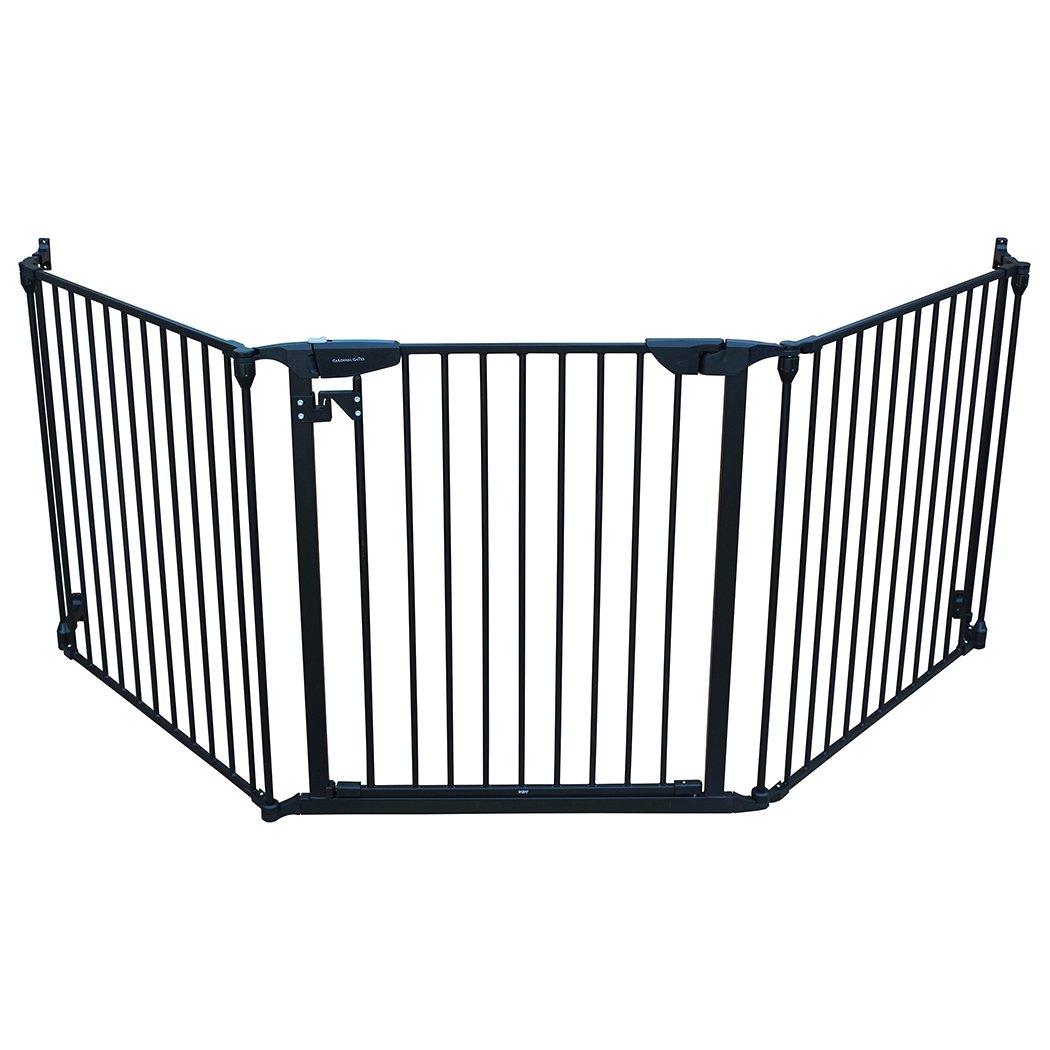 Black Cardinal Gates Expandable Wide Pet Gate, Black