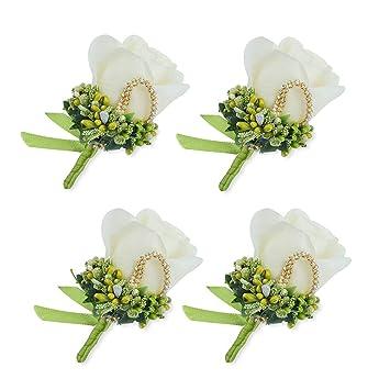 Amazon Ysucau Rose Silk Corsage Boutonnieres Handmade Groom