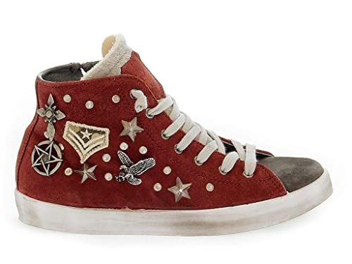 a28ae52148d Beverly Hills Polo Club Women's Polopd634 Red Suede Hi Top Sneakers:  Amazon.co.uk: Shoes & Bags