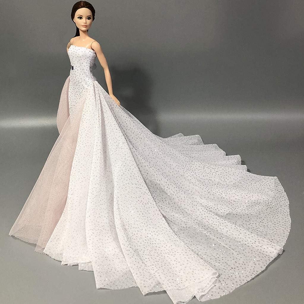 Romantisches High Fashion Brautkleid F/ür 1//6 Puppe Prinzessin Abendkleider Kleid HR-COME
