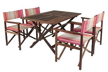 Luxe Charly Beach Ensemble de mobilier de jardin en bois acajou ...