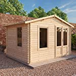 WALTONS-EST-1878-Garden-Log-Cabin-Home-Office-Traditional-Timber-Chalet-Garden-Room-Measures-27m-x-33m-Apex-Roof-complete-with-Floor-Roof-Felt-Includes-10-year-Guarantee-Single-glaze-safety-glass-27x3
