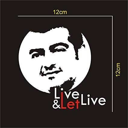 ISEE 360 Live and Let Live Thala Ajith Reflective Rear