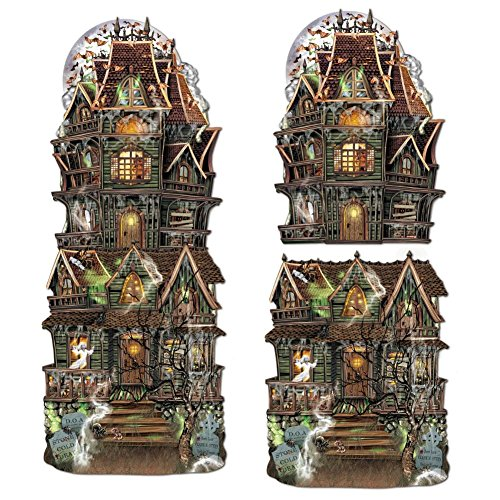 Beistle 2-Pack Jumbo Haunted House Cutouts, 24-1/2-Inch from Beistle