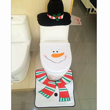 Sensational Amazon Com White Snowman Toilet Seat Cover And Rug Set Pabps2019 Chair Design Images Pabps2019Com