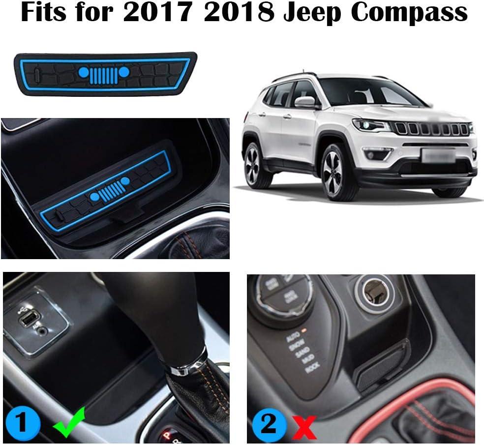 LITTOU Para compass 2017 2018, Antideslizante mat - Anti- polvo ...