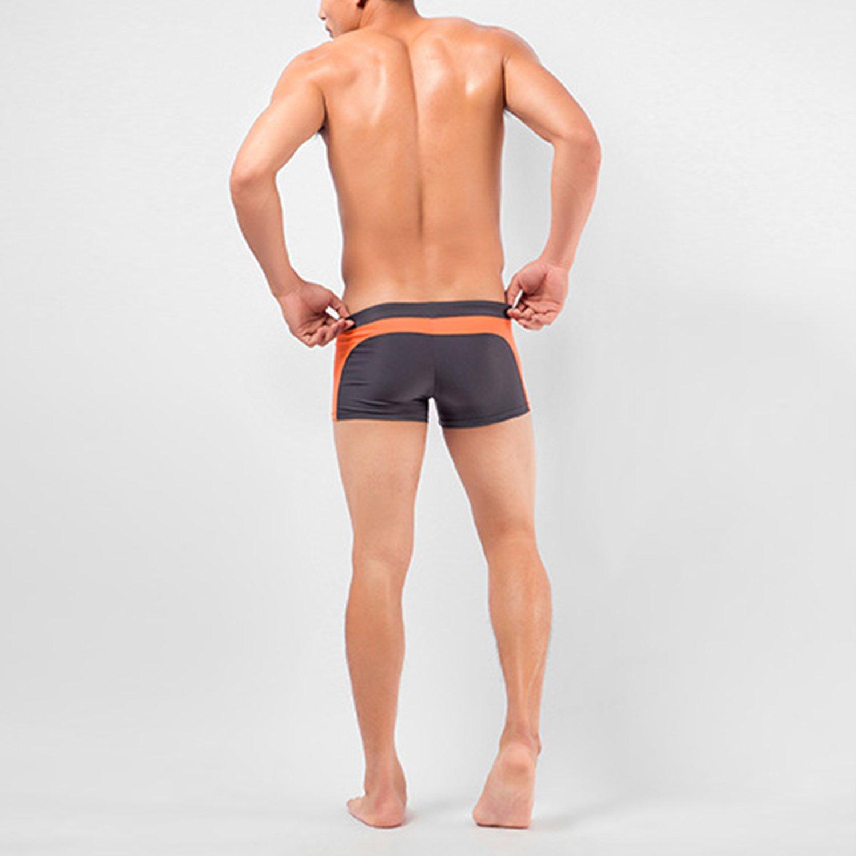 Libertepe Short de Natation Maillot de Bain Bicolore Homme Taille Ajustable Pants de Plage Et/é