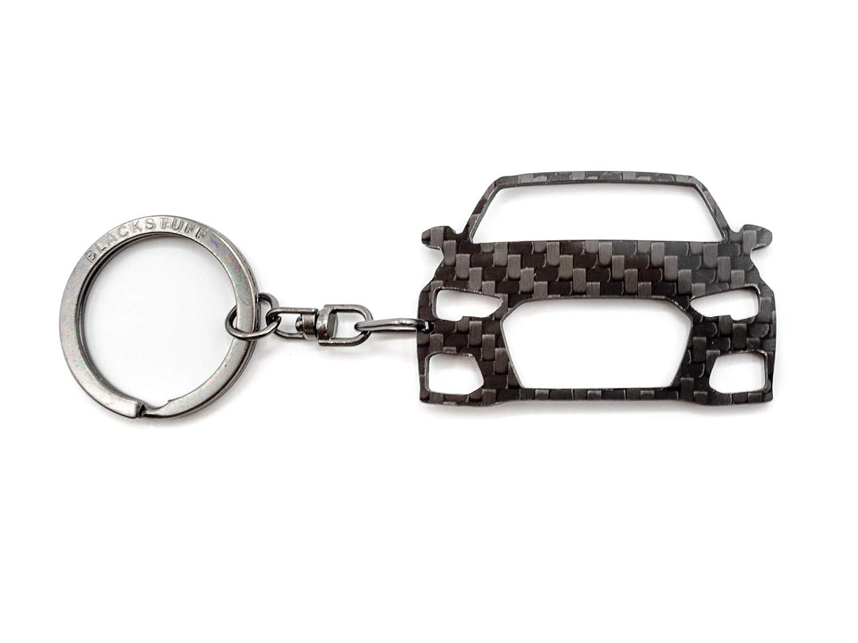 BlackStuff Porte-Cl/és En Fibre De Carbone Compatible Avec Audi A3 S3 RS3 8V 2012-2017 Voiture