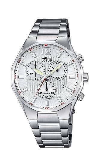 Lotus 10125/1 - Reloj de Pulsera Hombre, Acero Inoxidable, Color Plateado: Amazon.es: Relojes