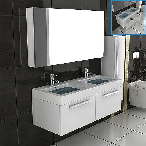 Unterschrank / Waschbecken / Badezimmer Möbel / Badmöbel / Waschtisch /  Modell Kema 1200 Weiß /