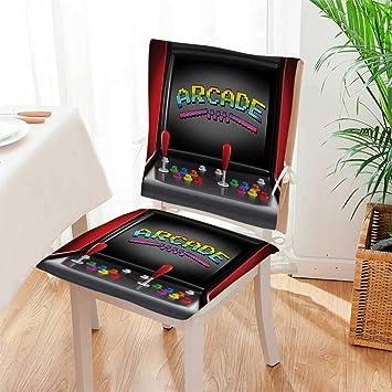 Amazon.com: Juego de cojines para silla Arcade Machine Retro ...