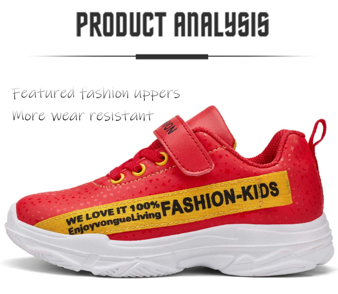 Childrens Nylon Non-Slip Running Shoes//Lightweight Sports Shoes//Warm Blue//red Size 28-39,EU31