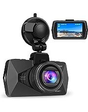 Crosstour Cámara de Coche Dash CAM 1080P Full HD 170°Ángulo Cámara para Coche G-Sensor Detección de Movimiento Grabación en Bucle HDR con Visión Nocturna CR500
