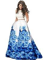 Nena Fashion Women's Silk Lehenga Choli (Nf- Blue Printed Lc_Blue_Free Size)