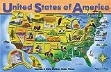 5 Pack MELISSA & DOUG USA MAP WOODEN PUZZLE 16X12 45 PCS