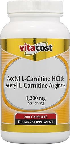 Vitacost Acetyl L-Carnitine HCl Acetyl L-Carnitine Arginate – 200 Capsules
