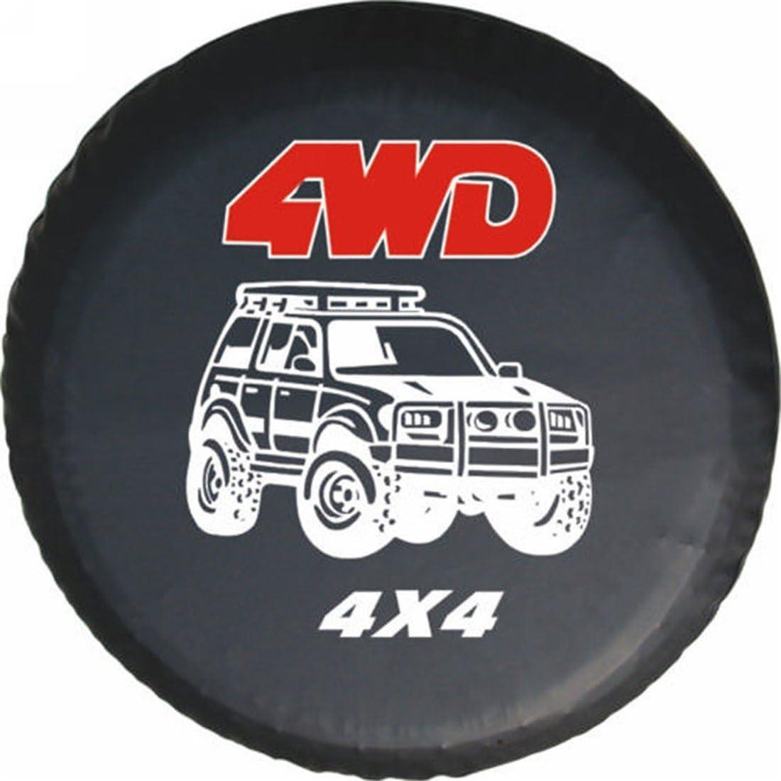 LITTOU Universal rueda de repuesto para 4 WD 4 x 4 Spot caso protector Para Trailer, RV, SUV (15