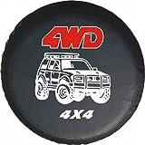 LITTOU Universal rueda de repuesto para 4 WD 4 x 4 Spot caso protector Para Tire