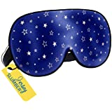 Jersey Slumber 100% Silk Sleep Mask For A Full Night's Sleep   Comfortable & Super Soft Eye Mask With Adjustable Strap   Work