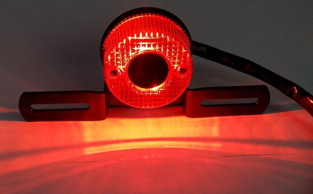 mit Nummernschildhalter DLLL Universal 4 in 1 Motorrad Running R/ückleuchte//Bremslicht