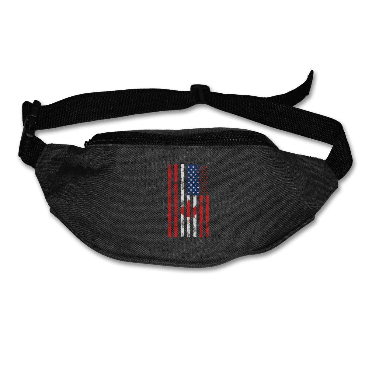USA Canada Flag Sport Waist Pack Fanny Pack Adjustable For Run