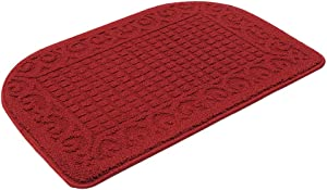 27X18 Inch Anti Fatigue Kitchen Rug Mats are Made of 100% Polypropylene Half Round Rug Cushion Specialized in Anti Slippery and Machine Washable,Burgundy