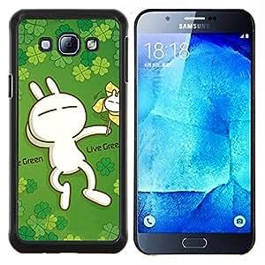 LECELL--Funda protectora / Cubierta / Piel For Samsung Galaxy A8 A8000 -- Pradera y puesta de sol --