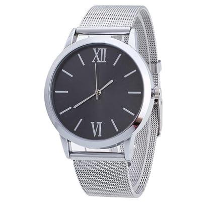 Relojes para Mujer,Winkey Mujer Mujer Plata Acero Inoxidable Banda de malla reloj de pulsera