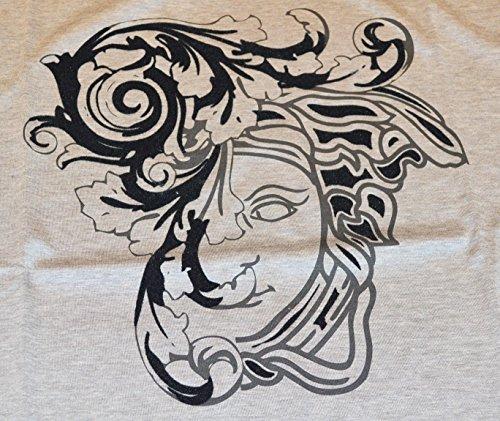 Versace Collection Herren T-Shirt, Logo grau hellgrau Medium
