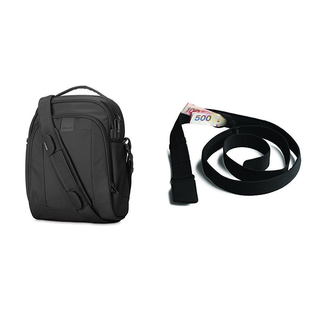 PacSafe Metrosafe LS250 Anti-Theft Shoulder Bag with Travel Belt Wallet